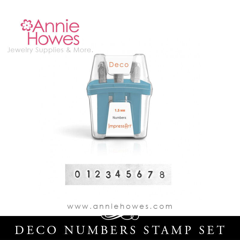 Impressart Metal Stamps - Deco Alphabet Stamp Numbers Set 1.5mm