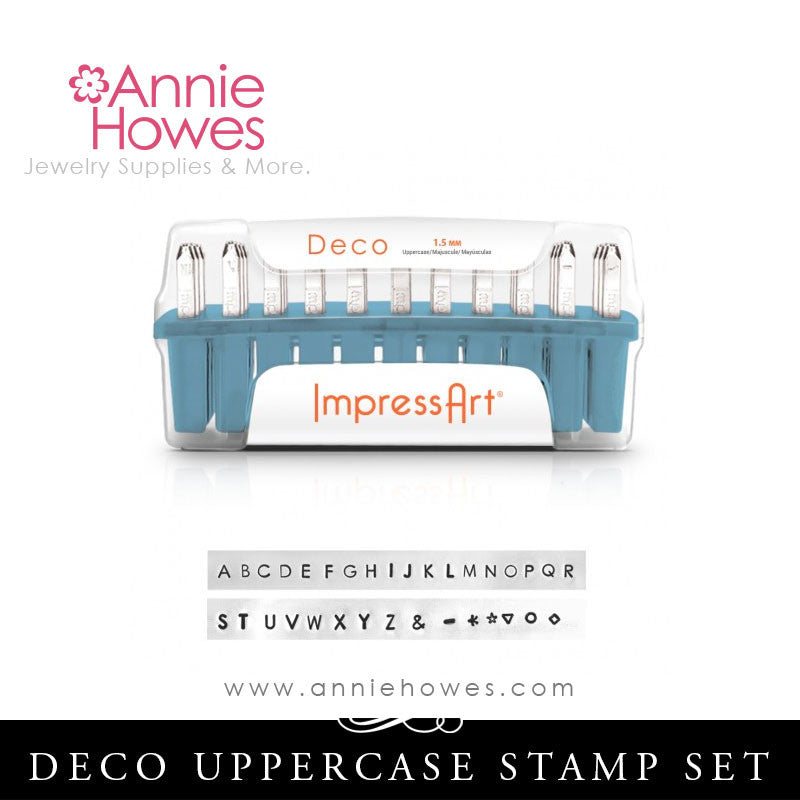 Impressart Metal Stamps - Deco Alphabet Stamp Uppercase Set 1.5mm