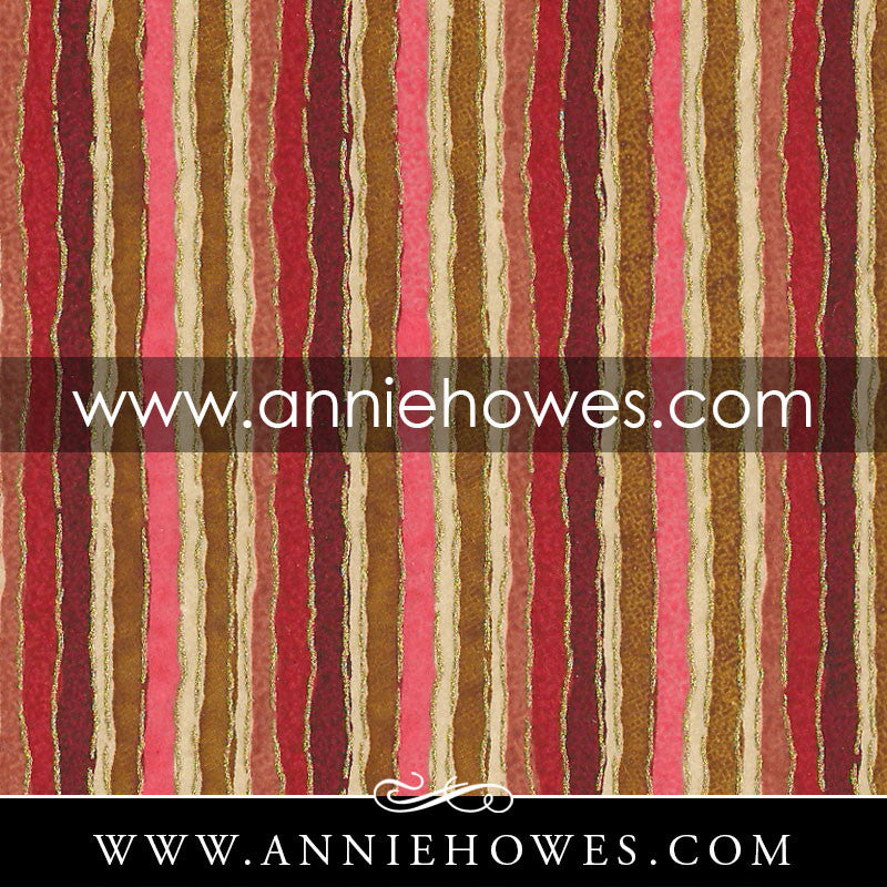"Chiyogami Paper - Stripes in Orange and Brown 4"" x 6"" sheet. (032)"