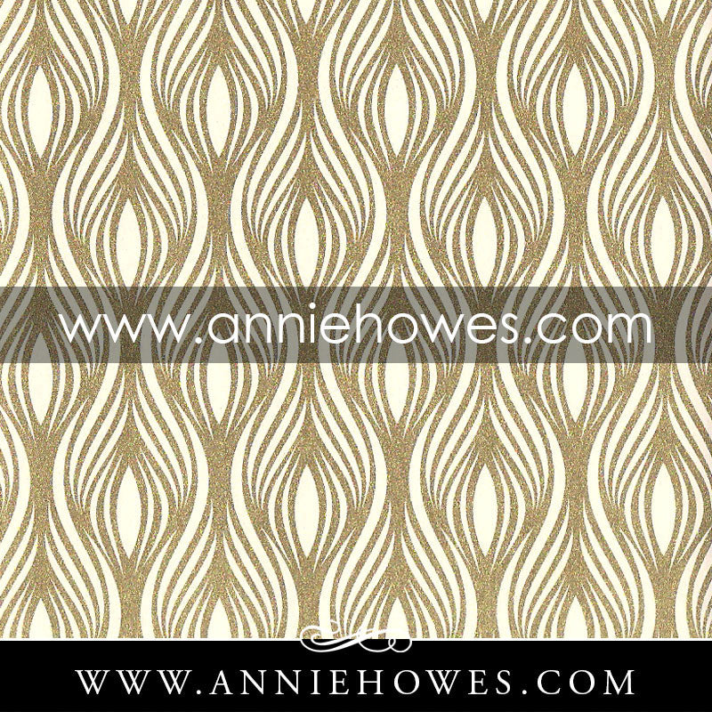 "Florentine Paper - Gold on White Pattern  4"" x 6"" sheet. (147)"