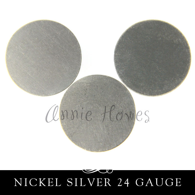 Nickel Silver Metal Stamping Blank 24G 25mm 1 Inch Circle