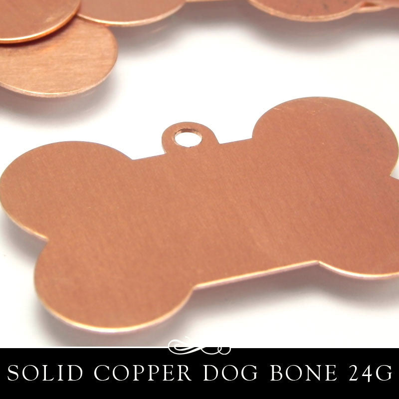 Copper Metal Stamping Blank 24G Dog Bone