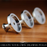 Aanraku Drawer Pull Knob with Glass insert