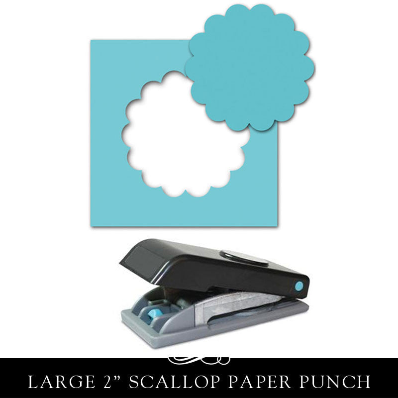 EK Tools Scallop Punch - 2 Inch Diameter Paper Punch.