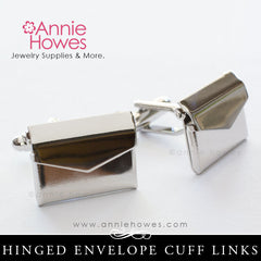 Envelope Cuff Links - Silver