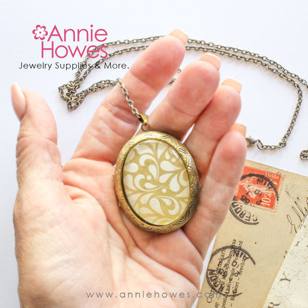 Photo Locket Diy Necklace Cameo Locket Annie Howes