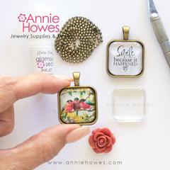 How to make glass photo jewelry pendant tray annie howes how to make a glass photo pendant aloadofball Images
