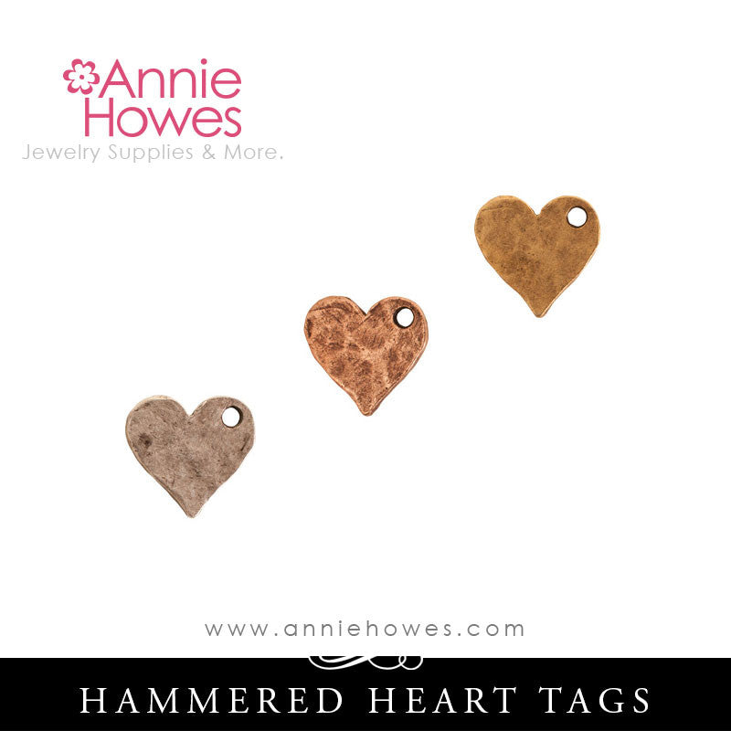 Flat Tag for Metal Stamping Heart Shape - Nunn Design HFTMHS