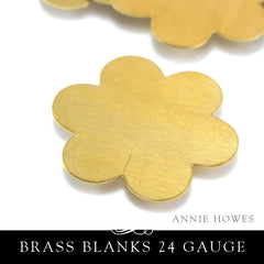 Brass Metal Stamping Blank 24G 1 3/8 In Petal Flower
