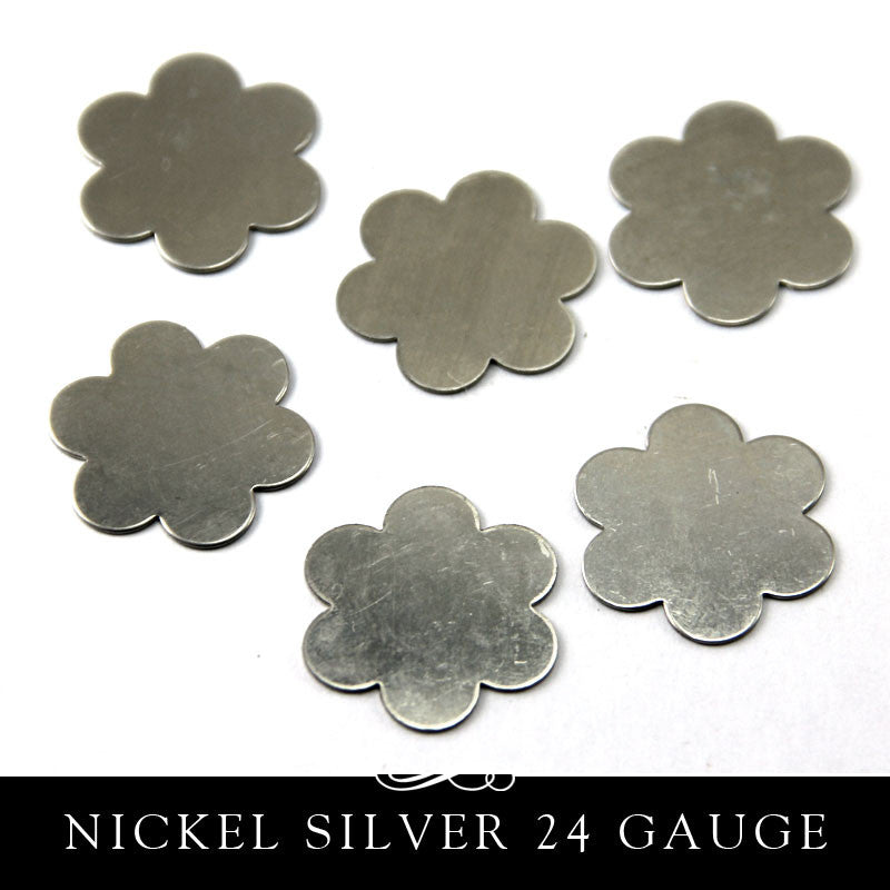 Nickel Silver Metal Stamping Blank 24G Flower