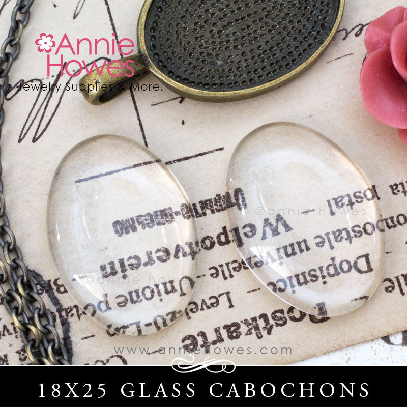 GFX-Glamour FX Glass 18mm x 25mm Ovals