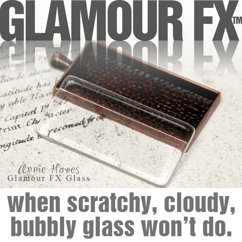 GFX Glamour  FX Glass .875 x 1.875 in ( 24x48 ) - Rectangle Glass