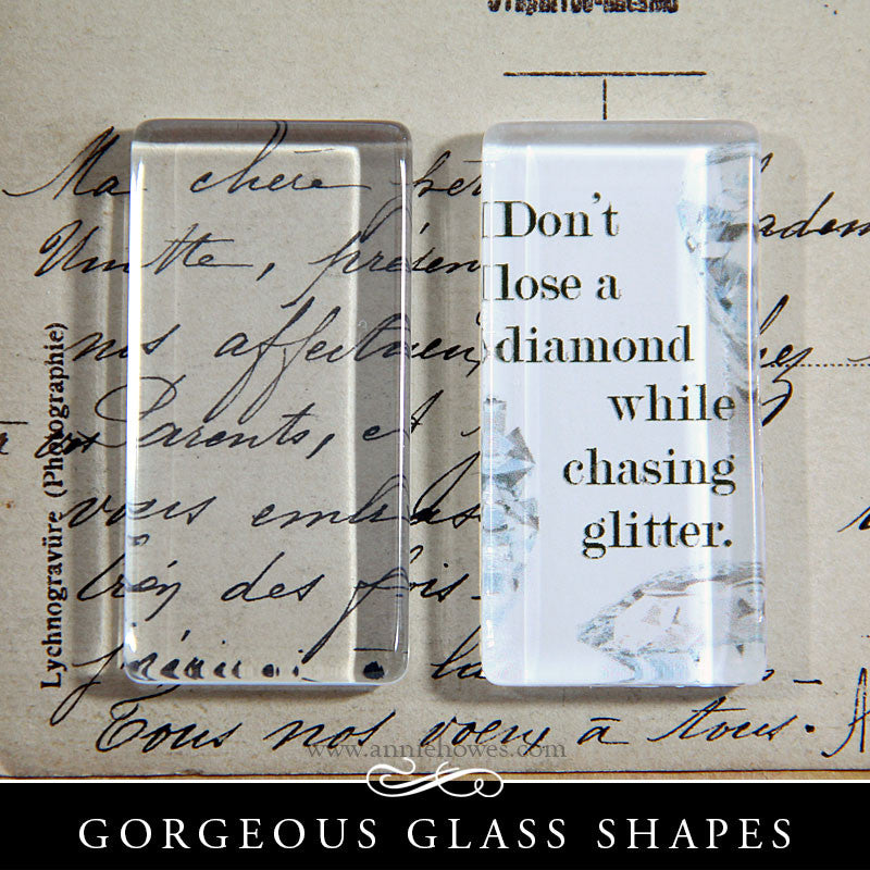 GFX Glamour FX Clear Glass Rectangles 1x2 Inches - NPF