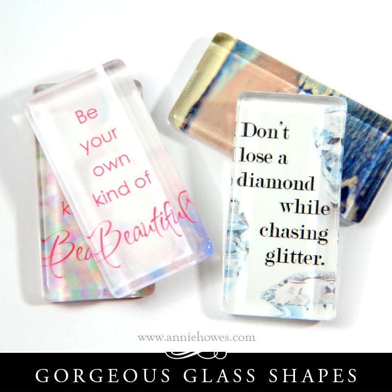 Regular Clear Glass Rectangles 1x2 Inches - NPF