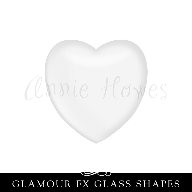 GFX-Glamour FX Glass Small Heart  16mm