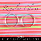 Regular Flat Circle Glass Shapes 1 Inch - 25 Pk UB Glass