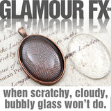 GFX-Glamour FX Glass - 22x30mm Oval Cabochons