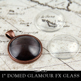 GFX Glamour FX Glass 1 Inch Circles - Domed