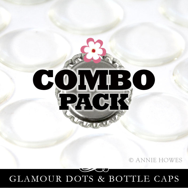 COMBO PACK Bottle Caps and Glamour Dots Makes 100