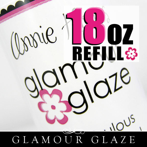 Glamour Glaze for Scrabble Tiles. 18 oz Refill bottle. Annie Howes.