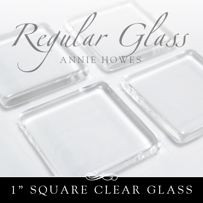 Regular Square Glass Shapes 1 Inch - 25 Pk UB Glass