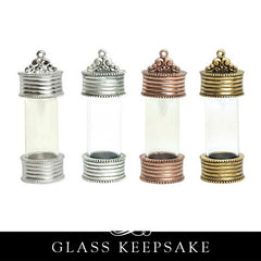 Glass Keepsake Locket Large Charm Pendant - GKP Nunn Design