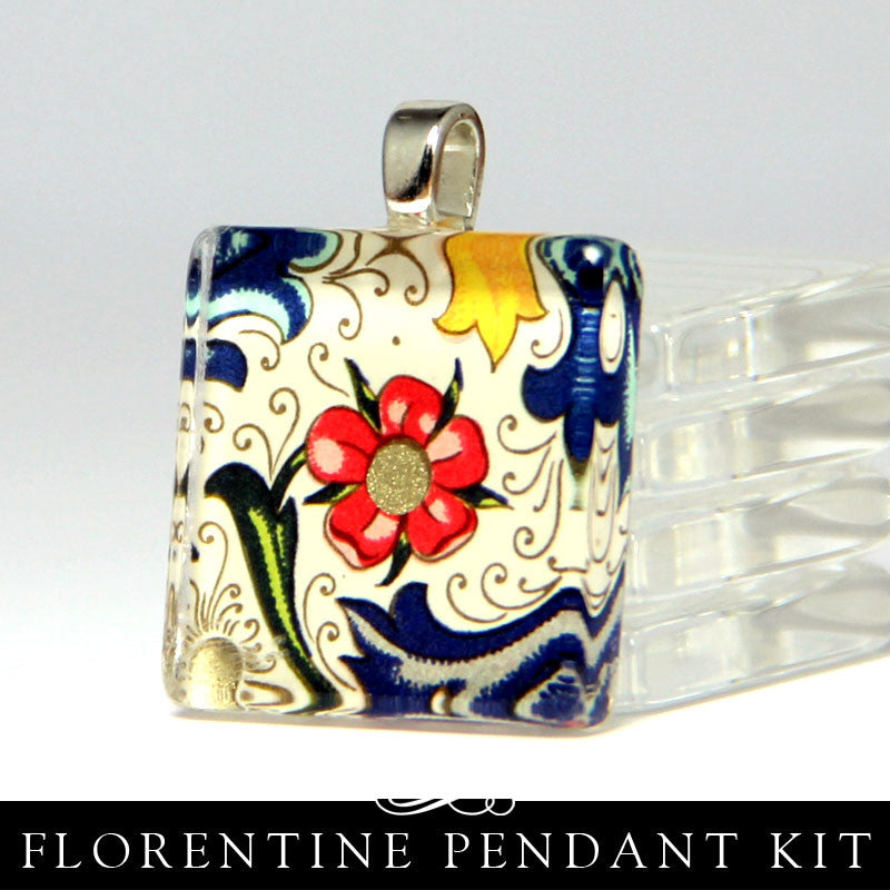 Square Glass Necklace Kit - Florentine Papers