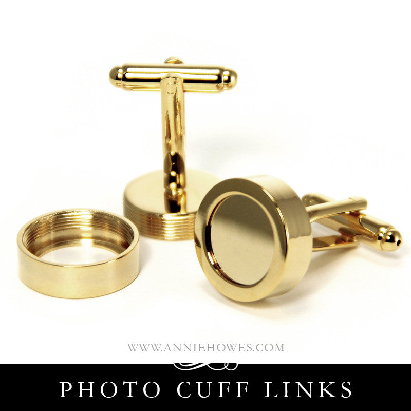 Photo Cuff Links - Gold