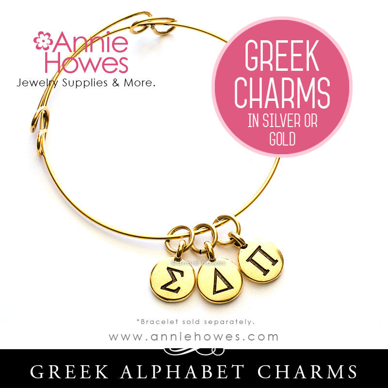 Greek Life Charms. Choose your color Silver or Gold. Sold as single.