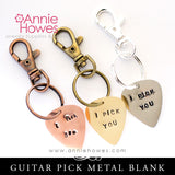 Impressart Guitar Pick Metal Stamping Blanks - Metal Color Options