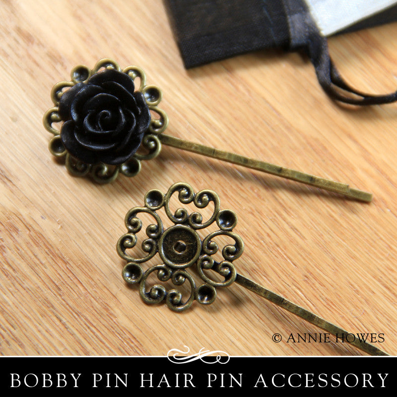 23MM Lace Hair Pin - Vintage Bronze (10 Pack)