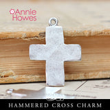 Hammered Cross Charm - Nunn Design