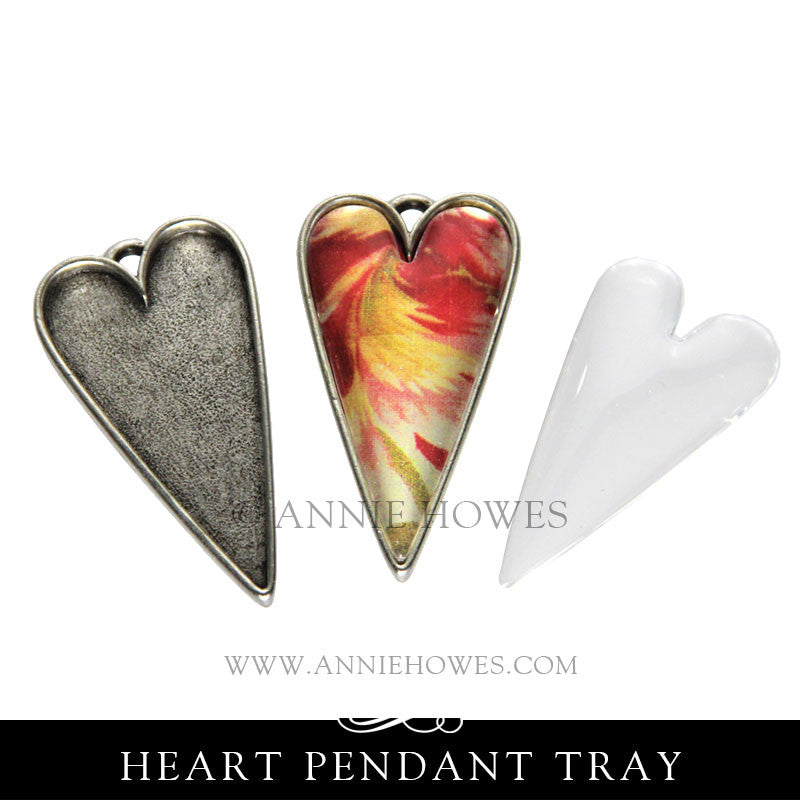 Primative Heart Shaped Pendant Tray with GFX Insert - GPH GFX Nunn Design