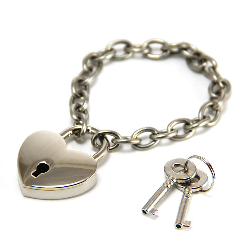 Heart Lock Bracelet with Working Lock. Annie Howes.
