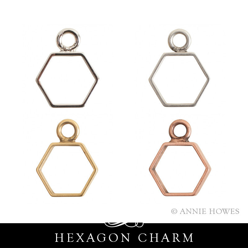 Hexagon Geometric Charms. Nunn Design.