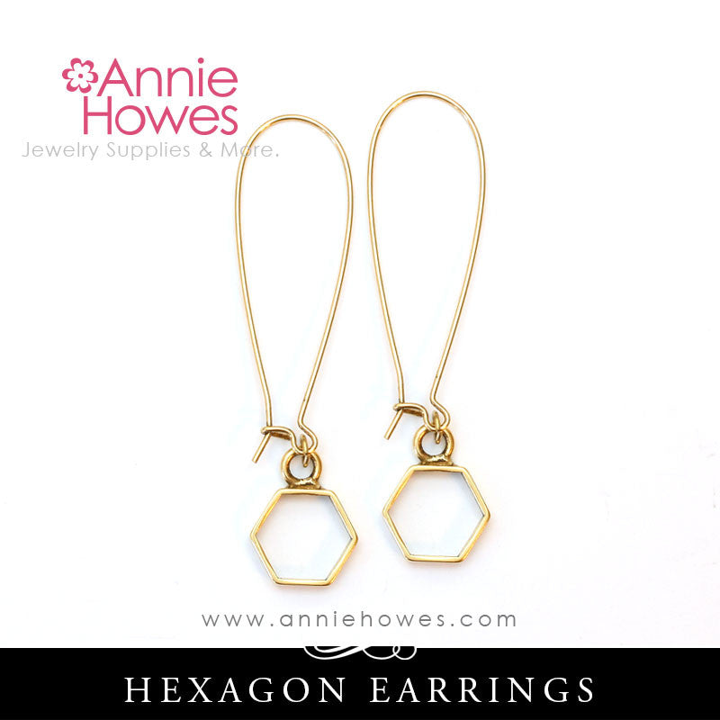 Hexagon Geometric Earrings.