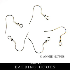 Annie Howes - Earring Wires in Silver or Vintage Gold.