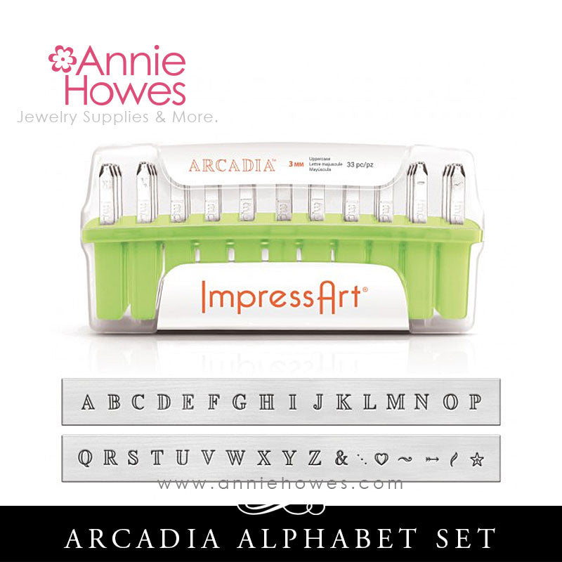Impressart Metal Stamps - Arcadia Alphabet Stamp Uppercase Set