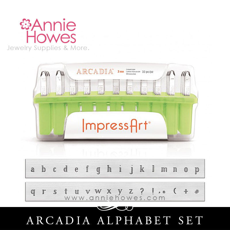 Impressart Metal Stamps - Arcadia Alphabet Stamp Lowercase Set