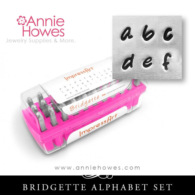 Impressart Metal Stamps - Bridgette Alphabet Stamp Lowercase Set