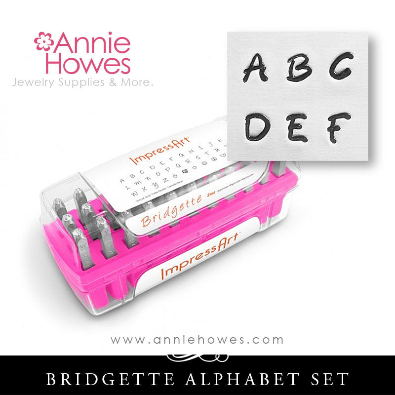 Impressart Metal Stamps - Bridgette Alphabet Stamp Uppercase Set