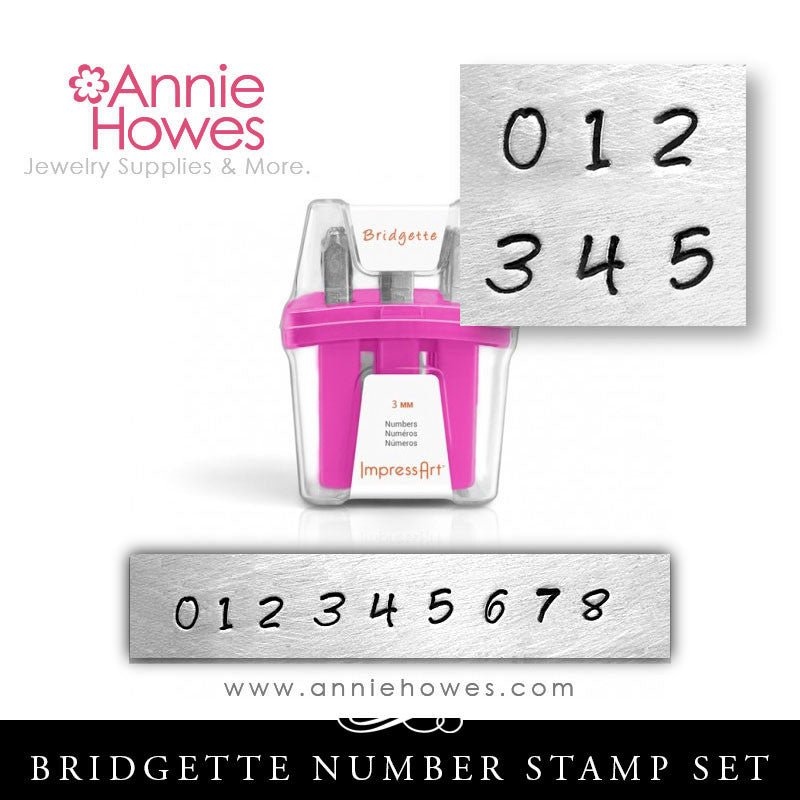 Impressart Metal Stamps - Bridgette Numbers Set