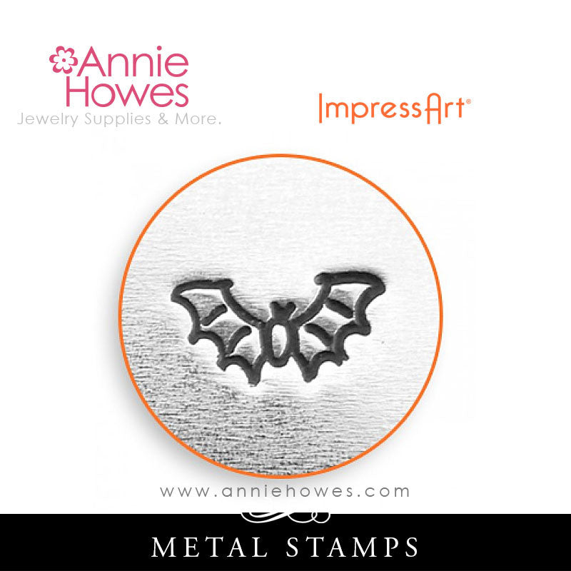 Impressart Metal Stamps - Flying Bat Design Stamp