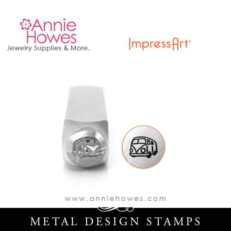 Impressart Metal Stamps - Hippie Bus Design Stamp