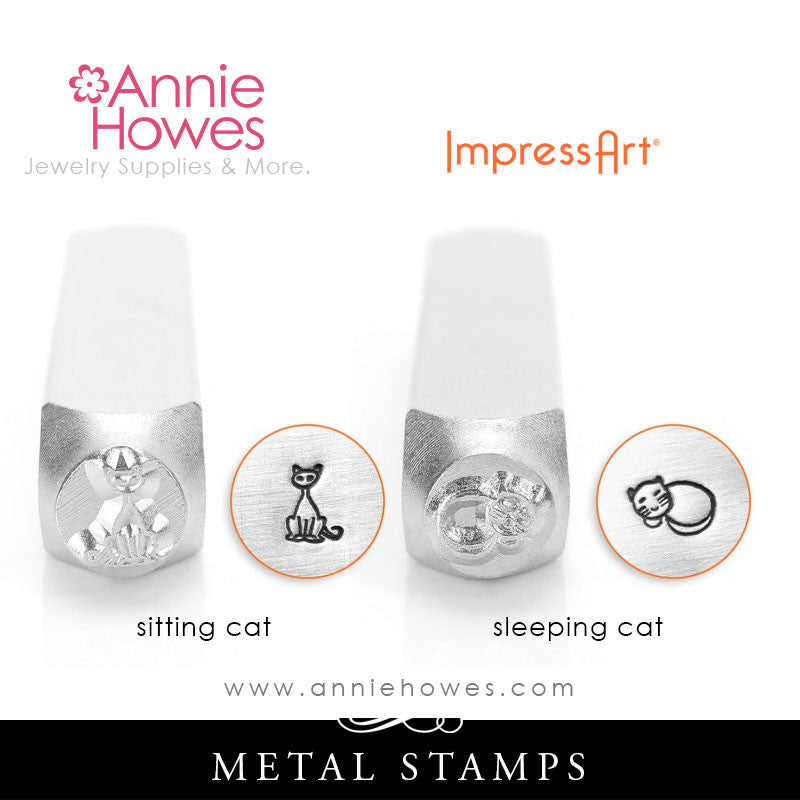 Impressart Metal Stamps - Cat Design Stamp - Two Options