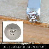 Impressart Metal Stamps - Chickadee Design Stamp