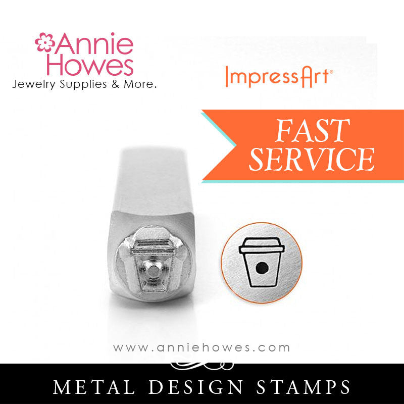 Impressart Metal Stamps - Coffee Cup Design Stamp