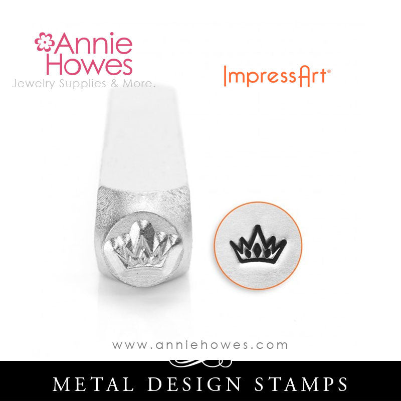 Impressart Metal Stamps - Crown Stamp