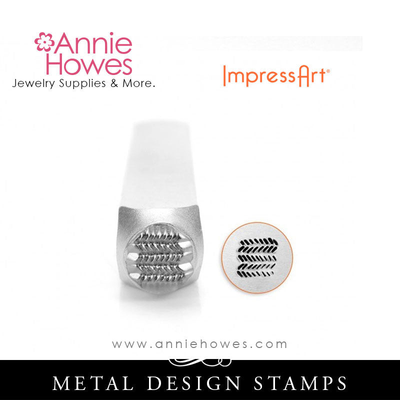 Impressart Metal Stamps - Dash Zig Zag Texture Jewelry Design Stamp