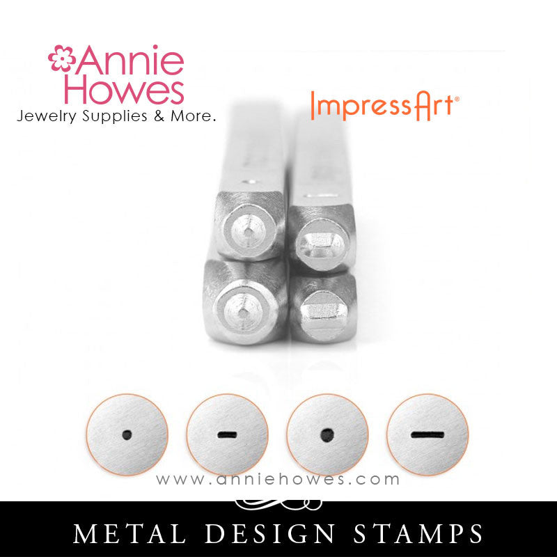 Impressart Metal Stamps - Dots And Dash Stamp Set